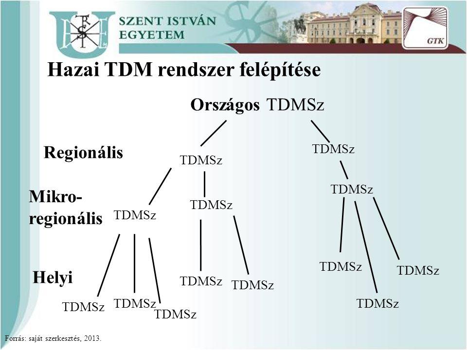 Hazai TDM rendszer felépítése