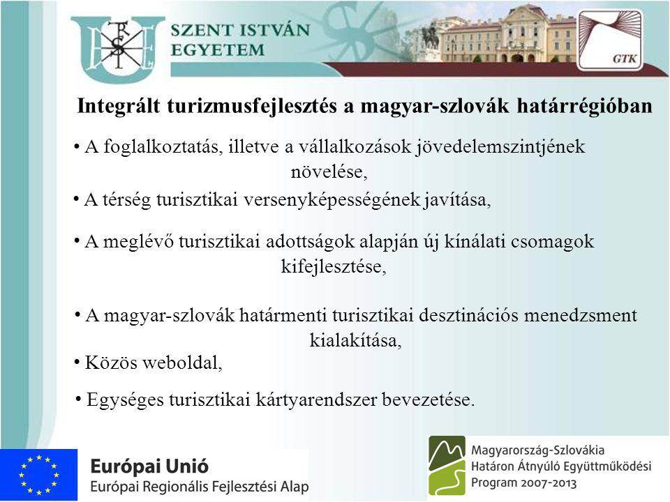 Integrált turizmusfejlesztés a magyar-szlovák határrégióban