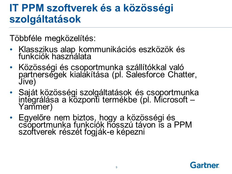 IT PPM szoftverek és mobil támogatás