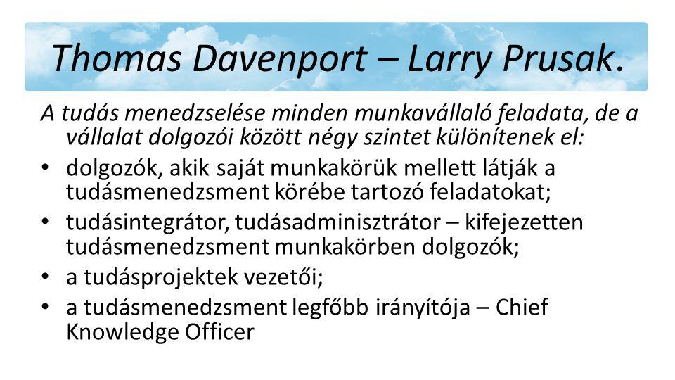 Thomas Davenport – Larry Prusak.