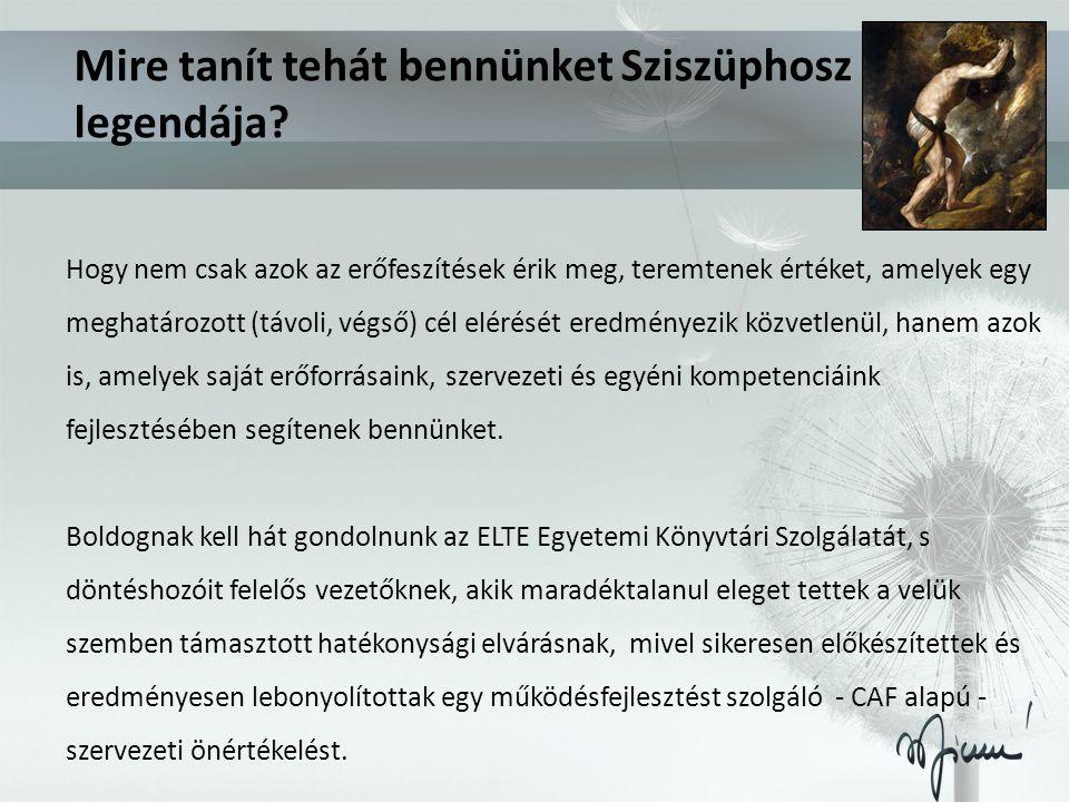 Mire tanít tehát bennünket Sziszüphosz legendája