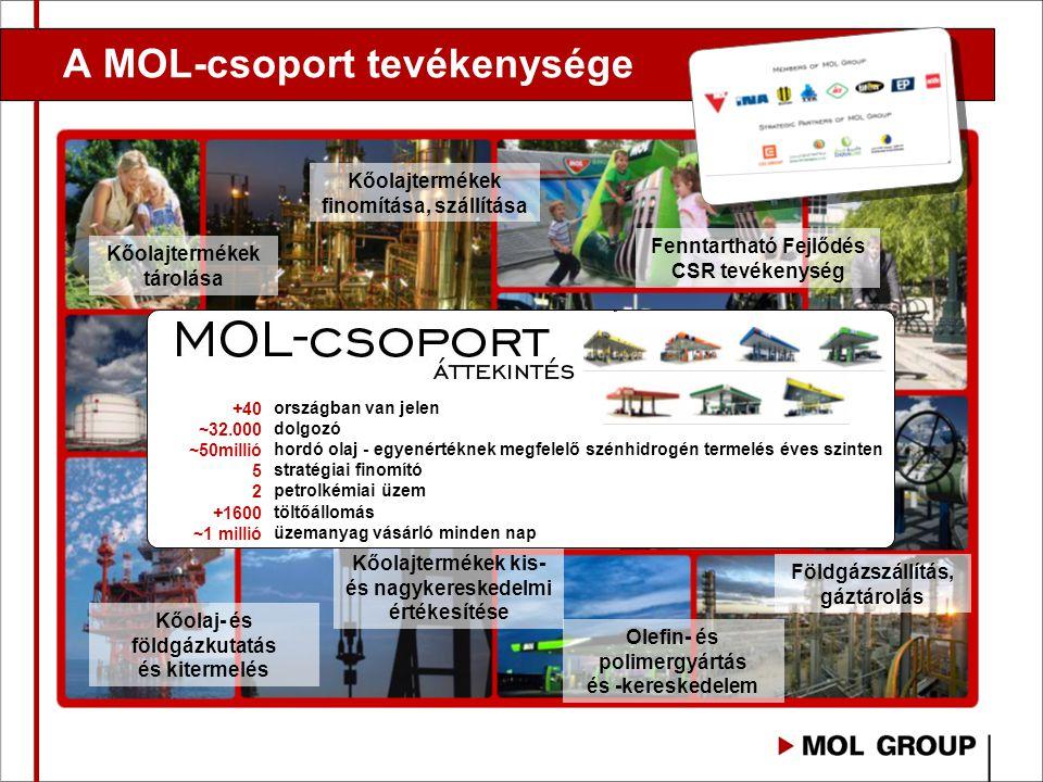 A MOL-csoport tevékenysége