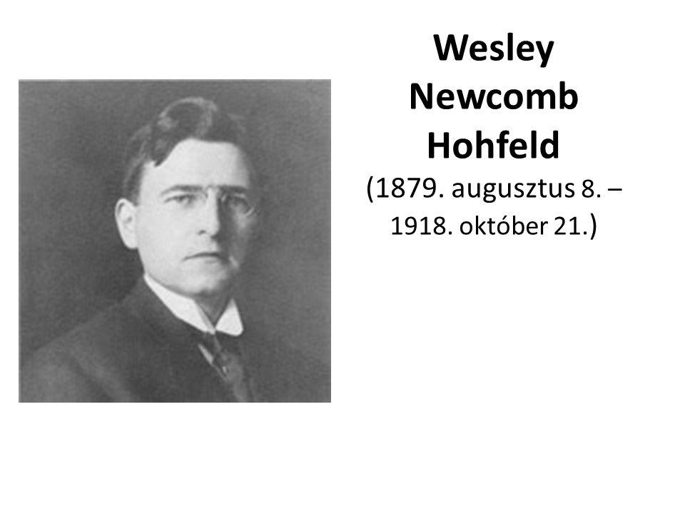 Wesley Newcomb Hohfeld (1879. augusztus 8. – 1918. október 21.)