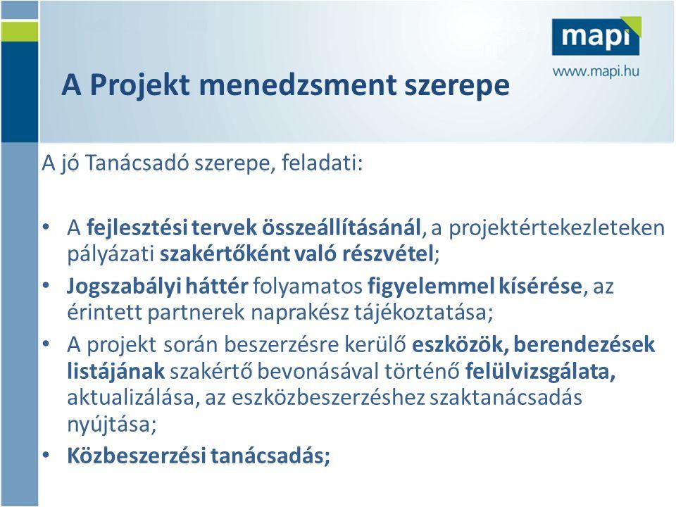 A Projekt menedzsment szerepe