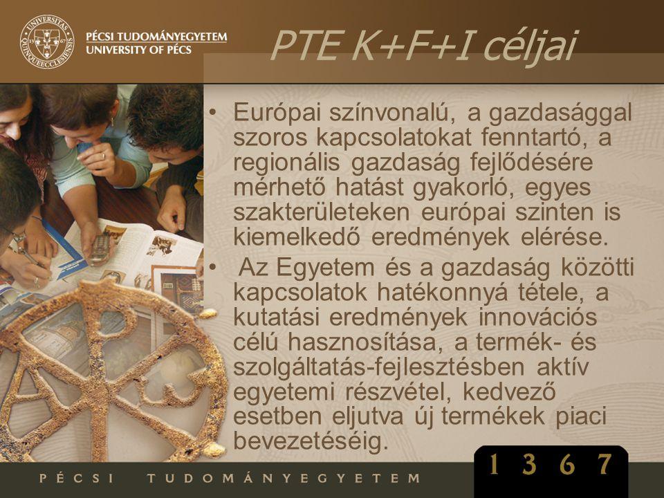 PTE K+F+I céljai