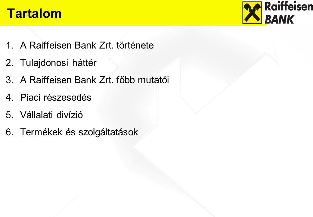 Tartalom A Raiffeisen Bank Zrt. története Tulajdonosi háttér