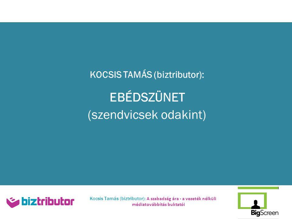 KOCSIS TAMÁS (biztributor): EBÉDSZÜNET (szendvicsek odakint)