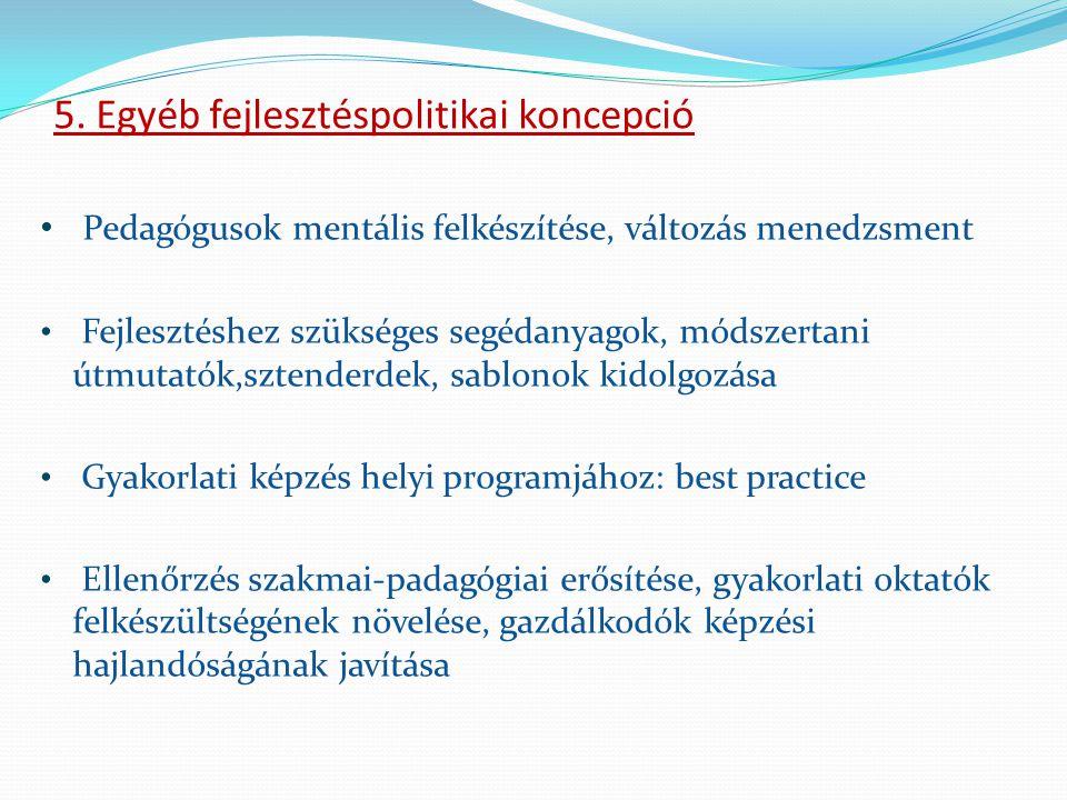 5. Egyéb fejlesztéspolitikai koncepció