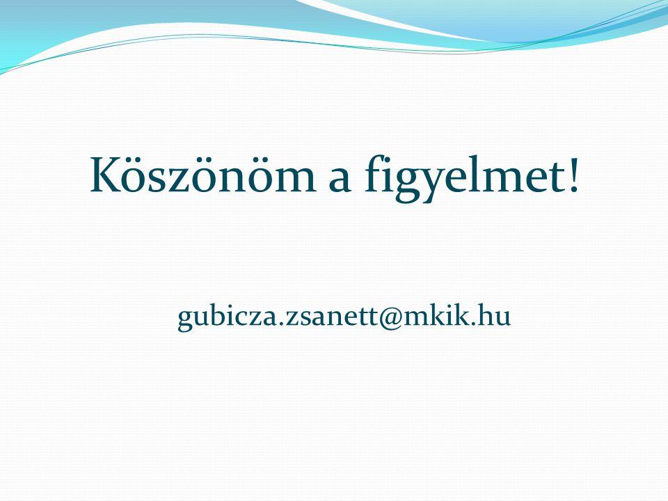 Köszönöm a figyelmet! gubicza.zsanett@mkik.hu