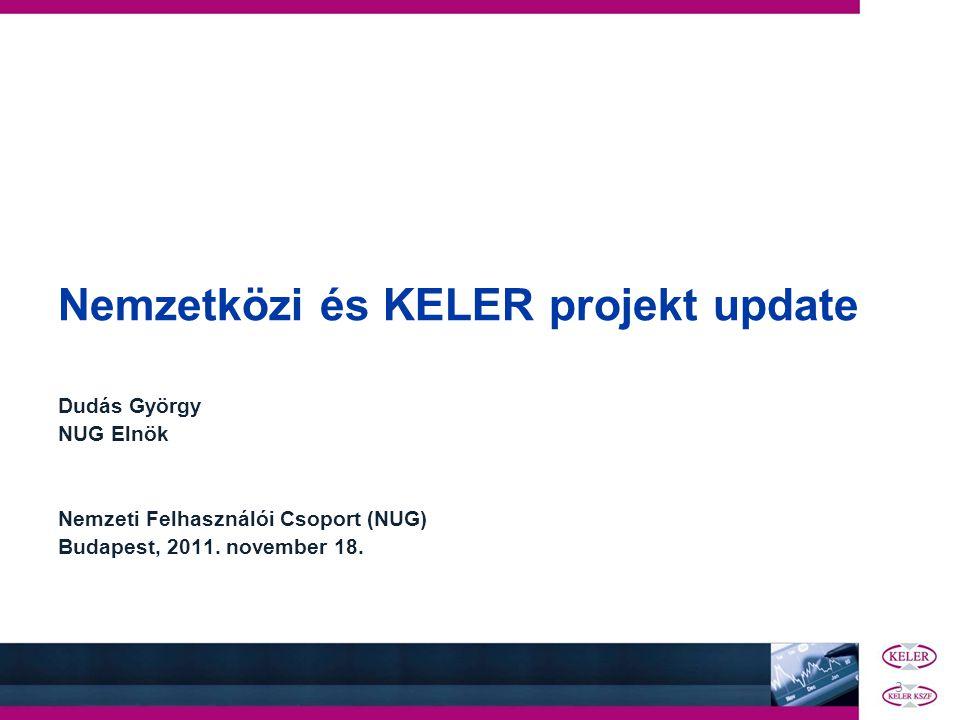 Nemzetközi és KELER projekt update
