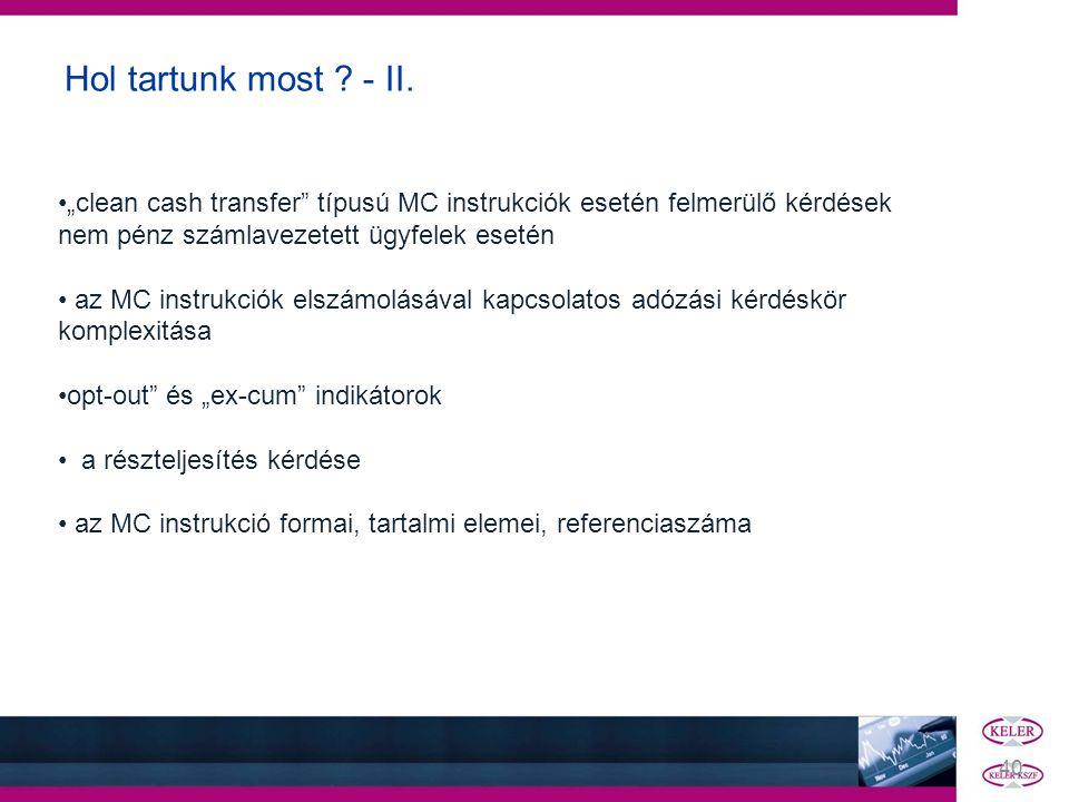 """Hol tartunk most - II. """"clean cash transfer típusú MC instrukciók esetén felmerülő kérdések nem pénz számlavezetett ügyfelek esetén."""