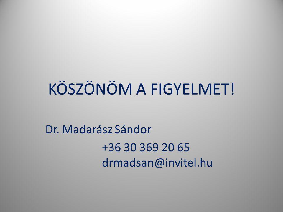 Dr. Madarász Sándor +36 30 369 20 65 drmadsan@invitel.hu