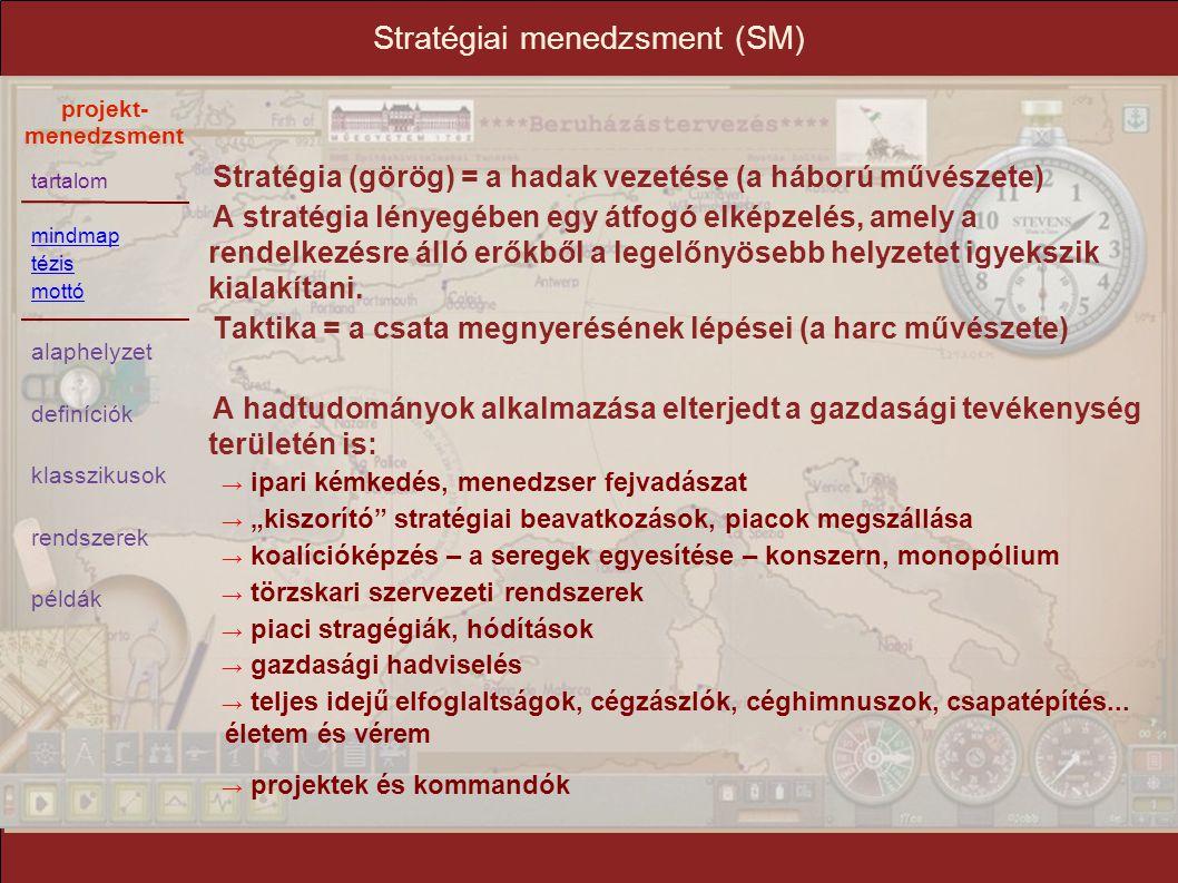 Stratégiai menedzsment (SM)