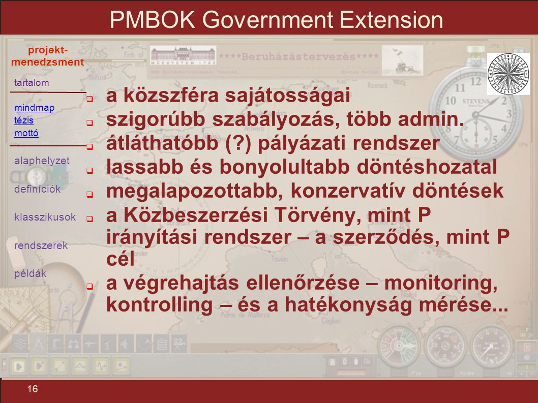 PMBOK Government Extension