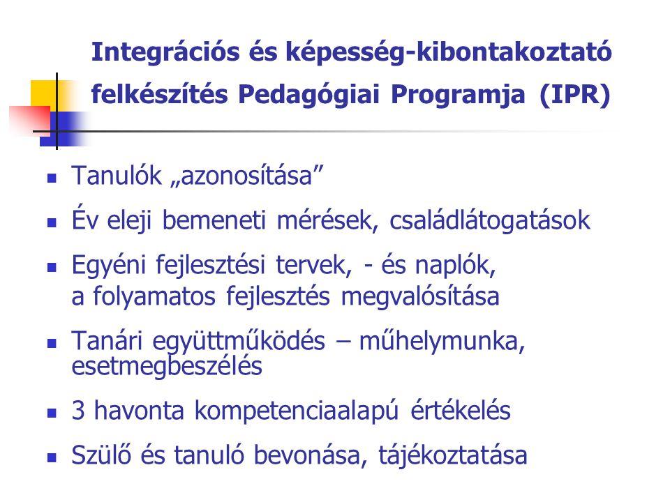 Integrációs és képesség-kibontakoztató felkészítés Pedagógiai Programja (IPR)