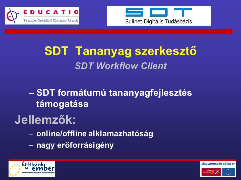 SDT Tananyag szerkesztő