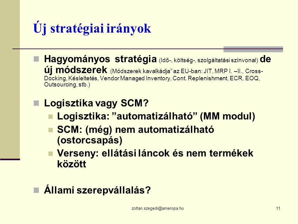 Új stratégiai irányok