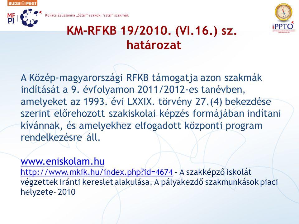 KM-RFKB 19/2010. (VI.16.) sz. határozat