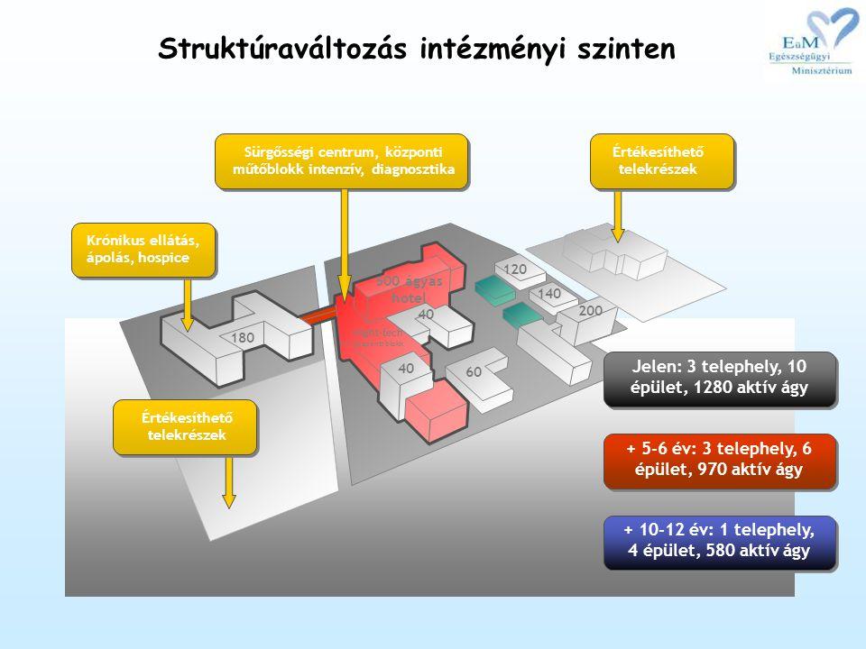 Struktúraváltozás intézményi szinten