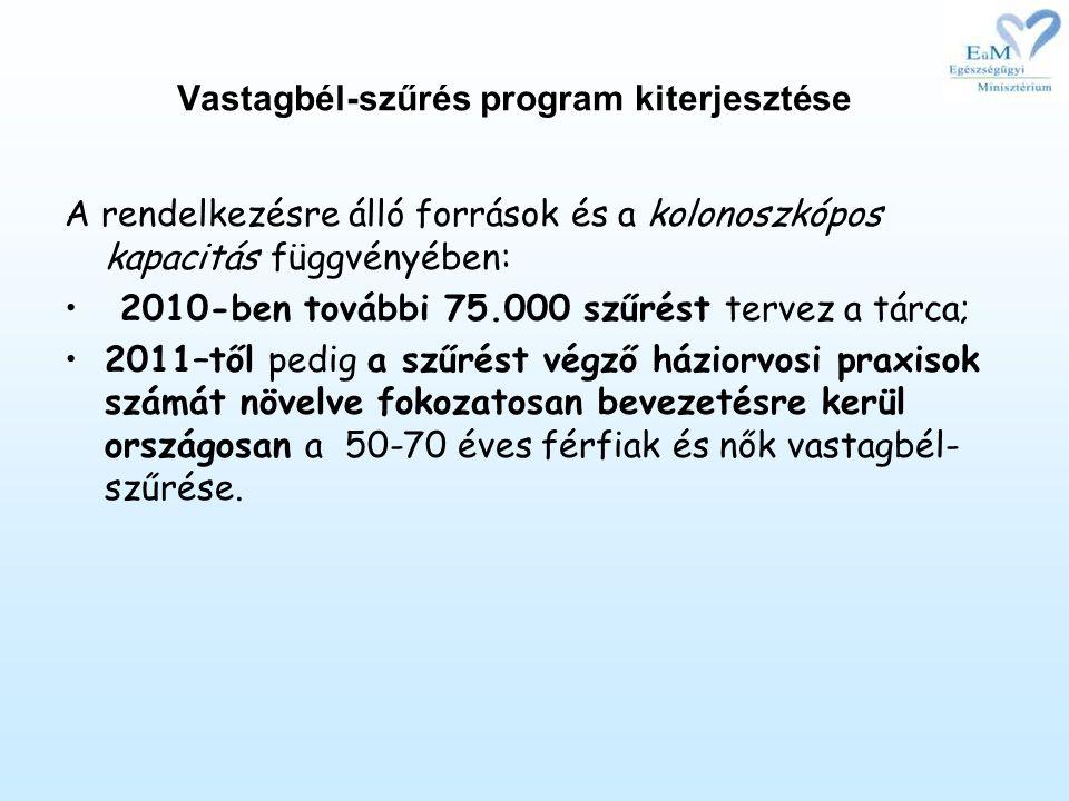 Vastagbél-szűrés program kiterjesztése