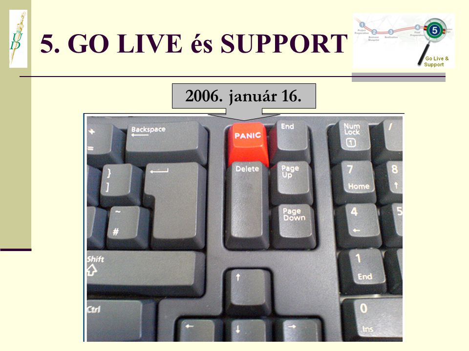 5. GO LIVE és SUPPORT 2006. január 16.