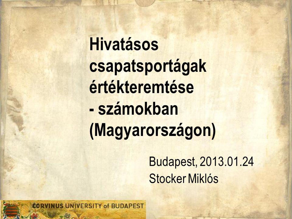 Hivatásos csapatsportágak értékteremtése - számokban (Magyarországon)