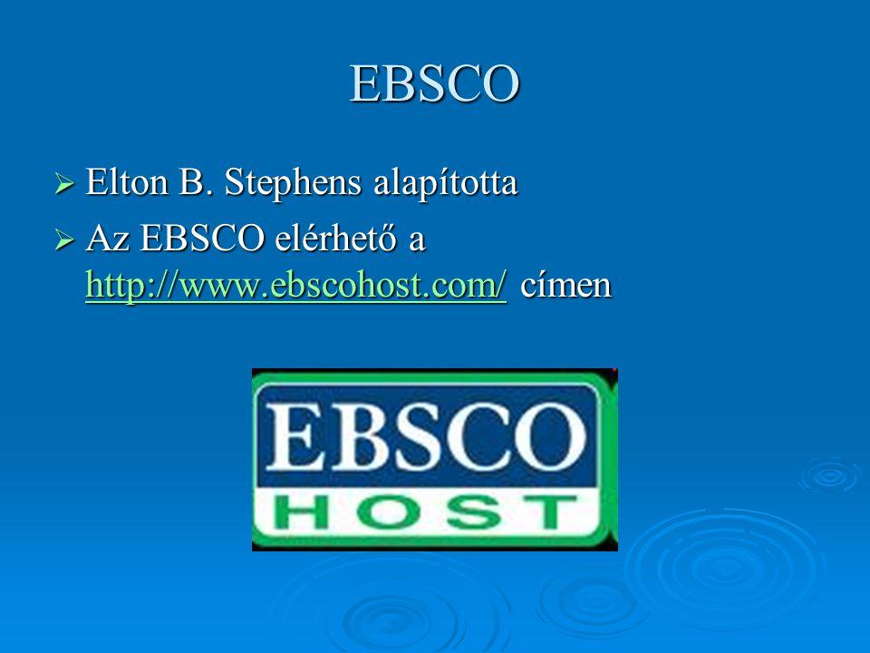 EBSCO Elton B. Stephens alapította