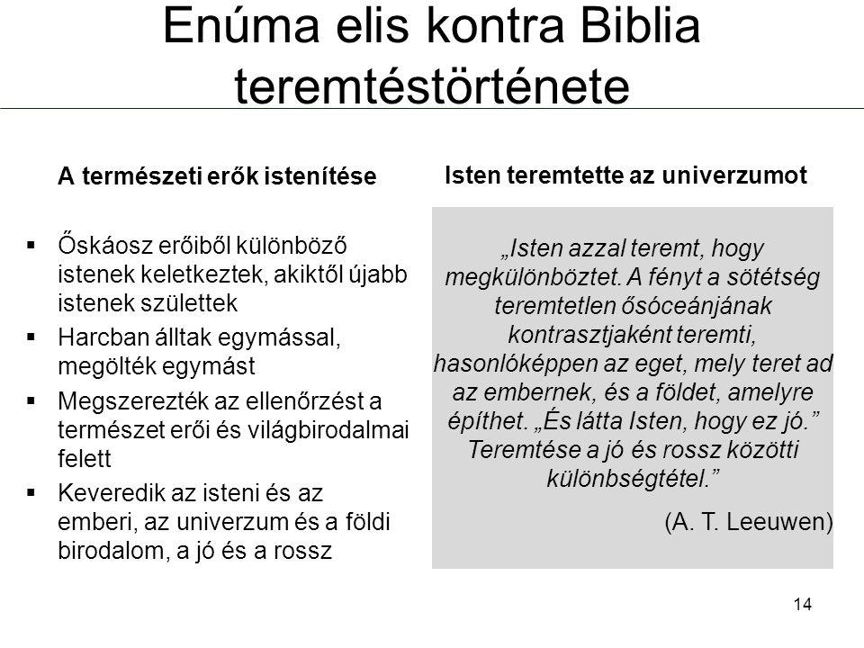 Enúma elis kontra Biblia teremtéstörténete