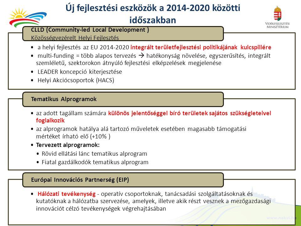 Új fejlesztési eszközök a 2014-2020 közötti időszakban