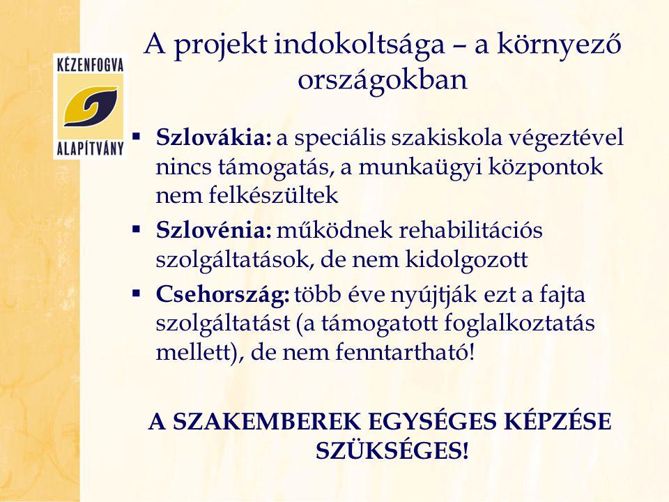 A projekt indokoltsága – a környező országokban