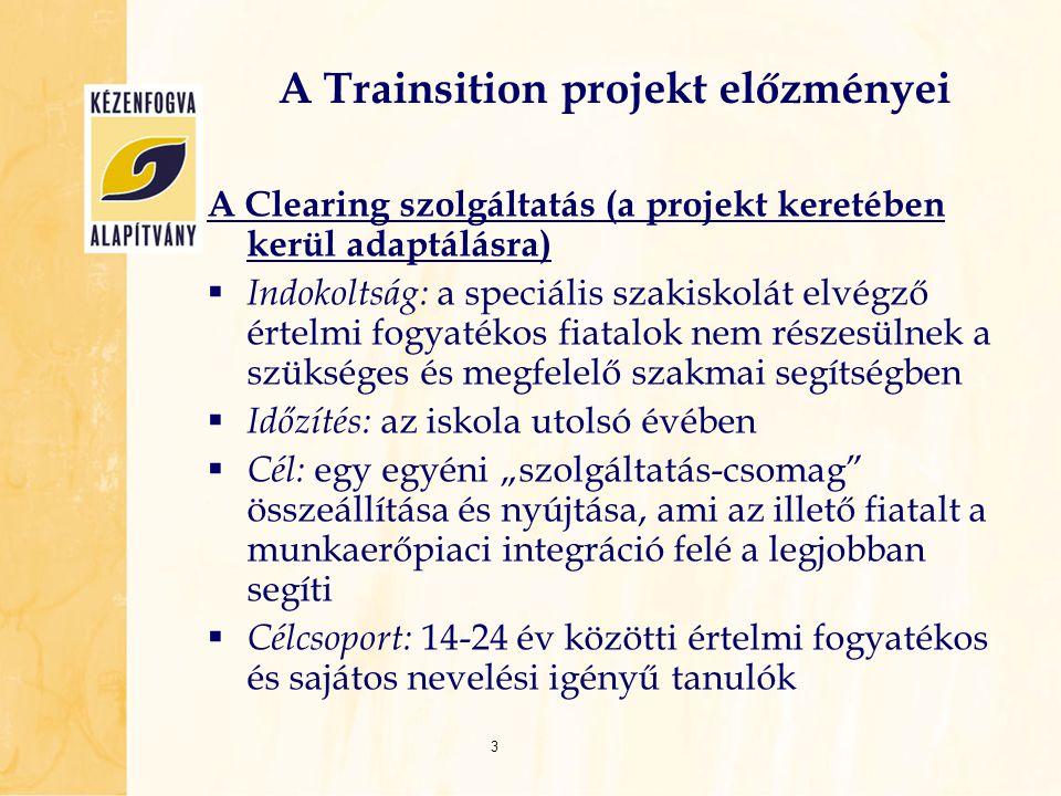 A Trainsition projekt előzményei