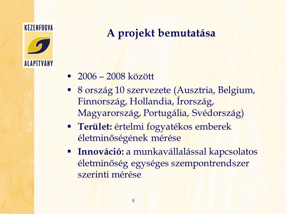 A projekt bemutatása 2006 – 2008 között