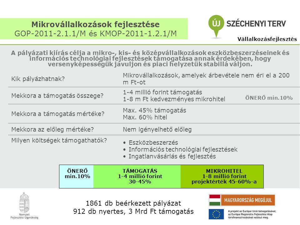 Mikrovállalkozások fejlesztése GOP-2011-2.1.1/M és KMOP-2011-1.2.1/M