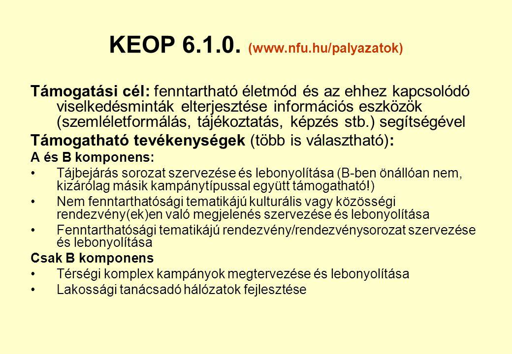 KEOP 6.1.0. (www.nfu.hu/palyazatok)