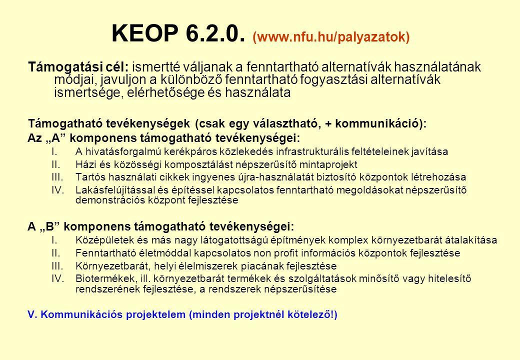 KEOP 6.2.0. (www.nfu.hu/palyazatok)