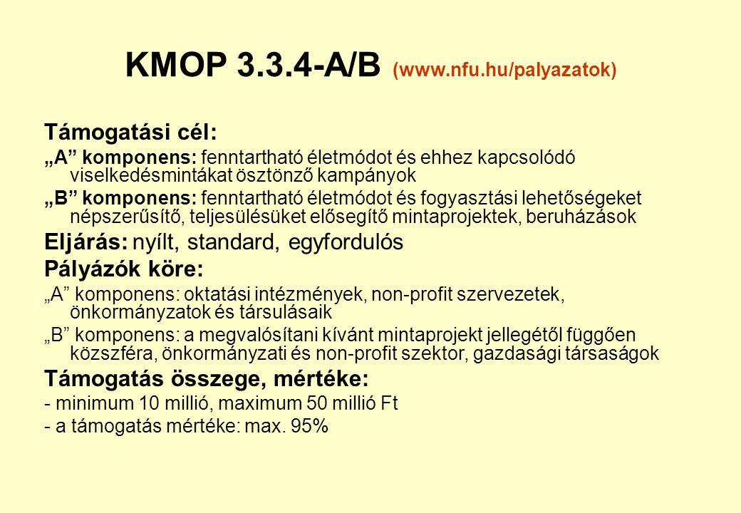 KMOP 3.3.4-A/B (www.nfu.hu/palyazatok)