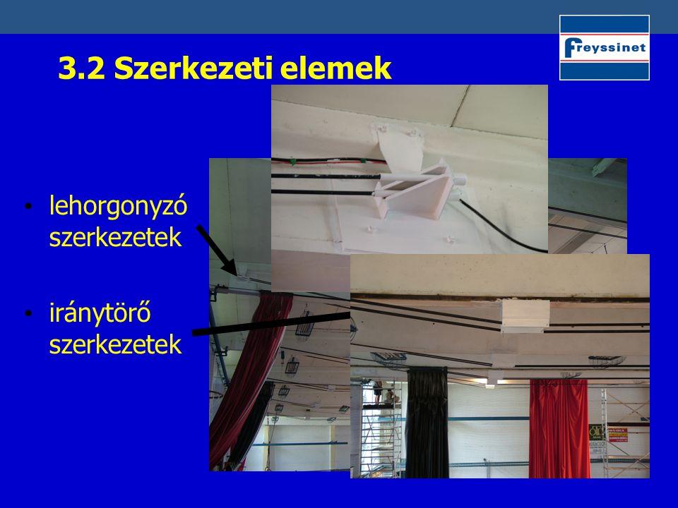 3.2 Szerkezeti elemek lehorgonyzó szerkezetek iránytörő szerkezetek
