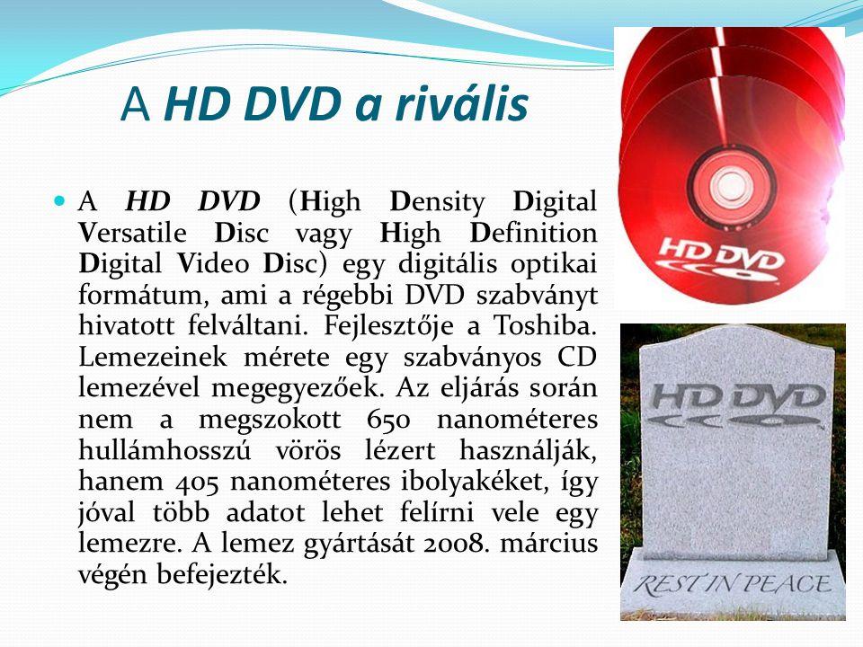 A HD DVD a rivális