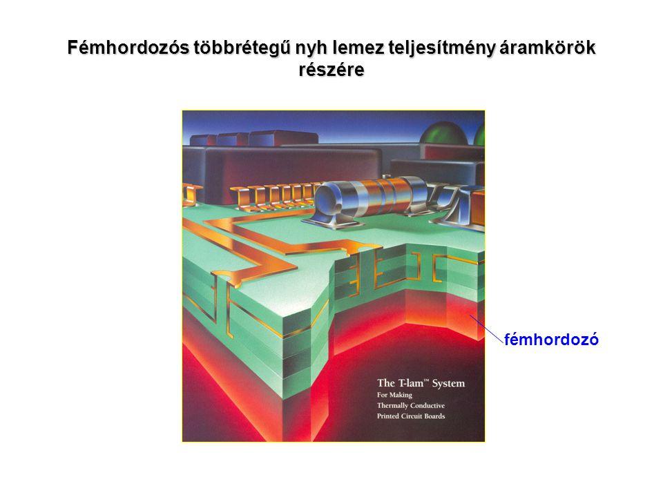 Fémhordozós többrétegű nyh lemez teljesítmény áramkörök részére
