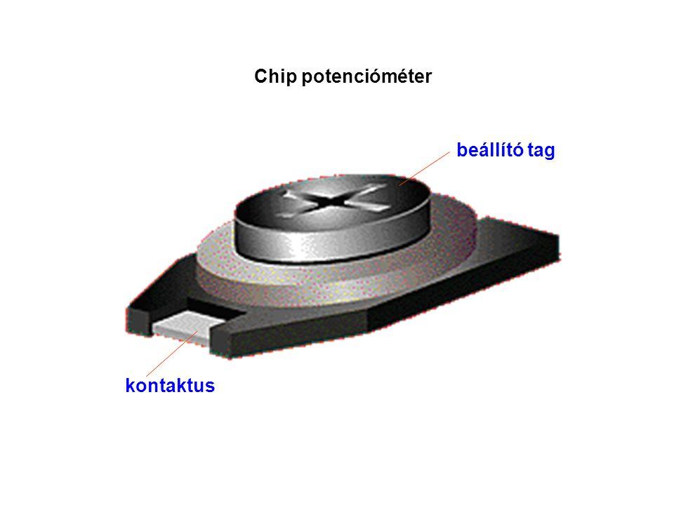 Chip potencióméter beállító tag kontaktus