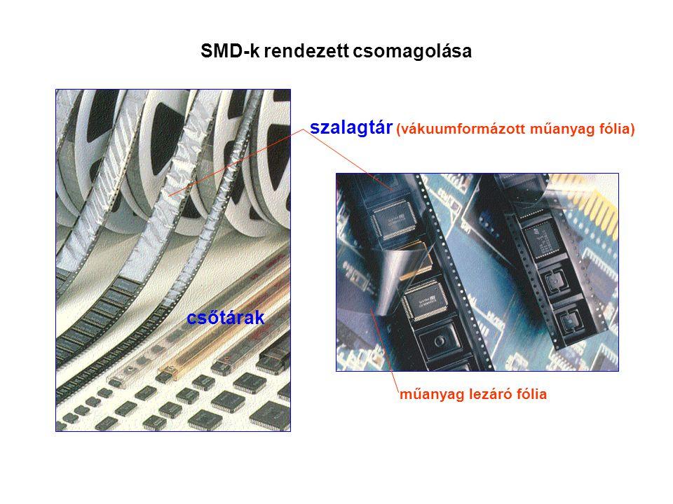 SMD-k rendezett csomagolása
