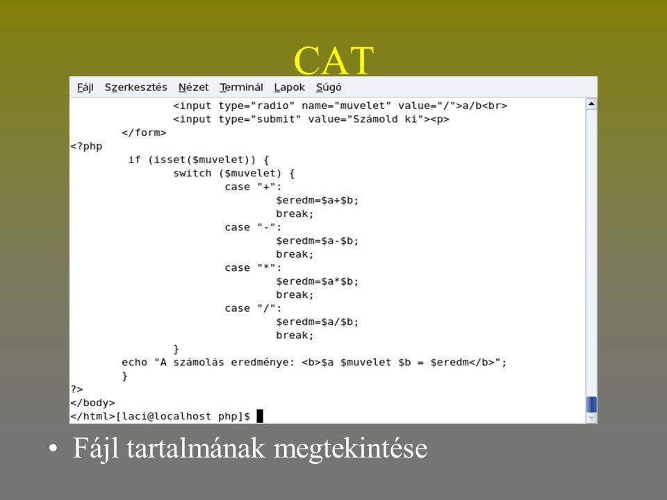 CAT Fájl tartalmának megtekintése
