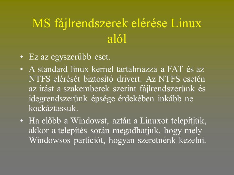 MS fájlrendszerek elérése Linux alól