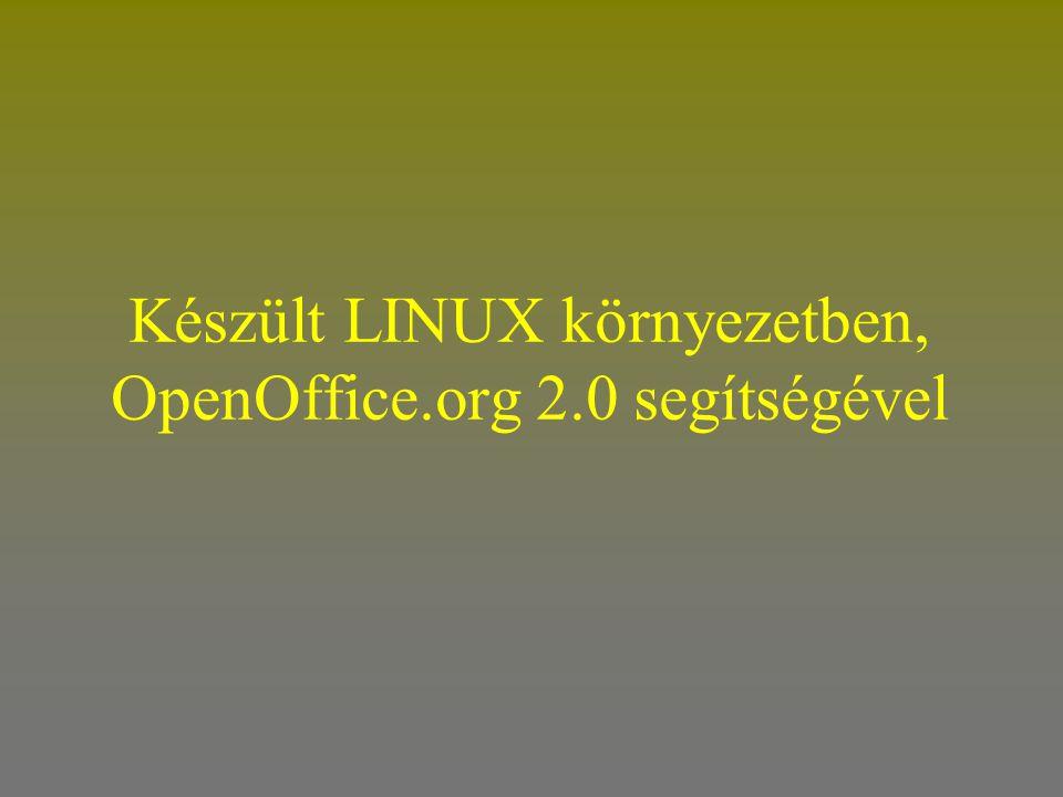 Készült LINUX környezetben, OpenOffice.org 2.0 segítségével
