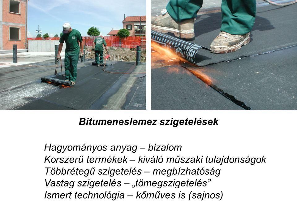 Bitumeneslemez szigetelések