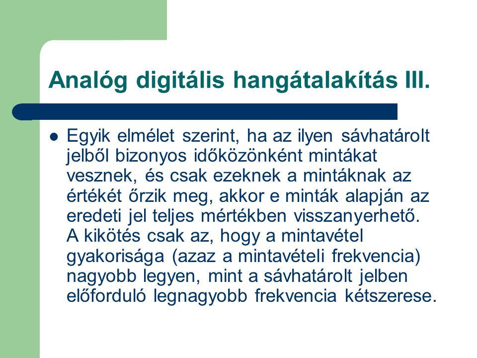 Analóg digitális hangátalakítás III.