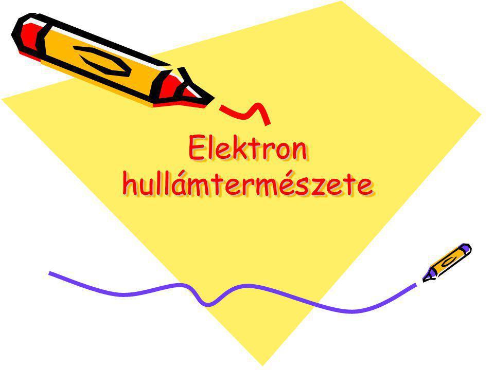 Elektron hullámtermészete