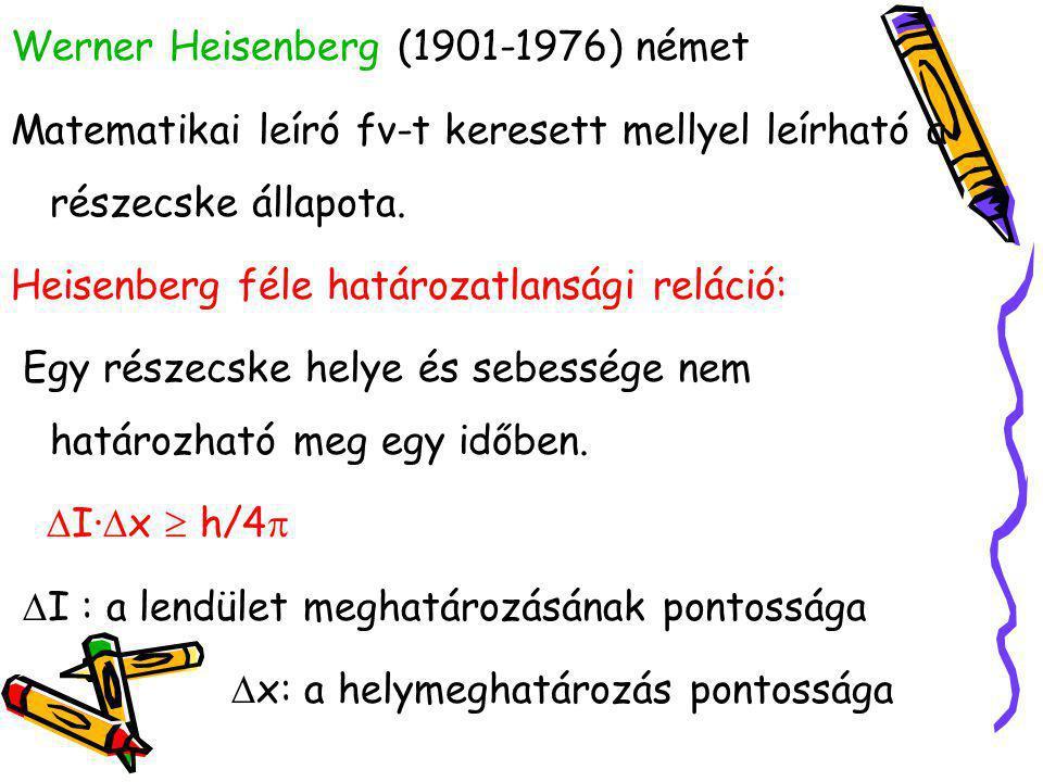 Werner Heisenberg (1901-1976) német