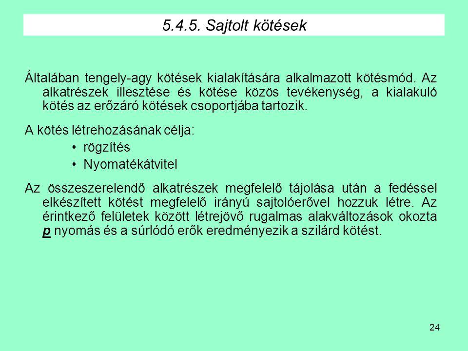 5.4.5. Sajtolt kötések