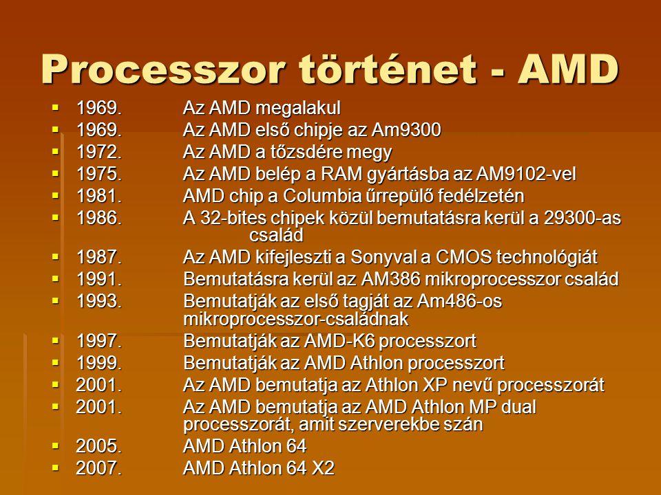 Processzor történet - AMD